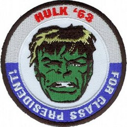 Wholesale Wholesalers For Rockabilly - Marvel Comics The Incredible Hulk For Class President TV Movie Uniform punk rockabilly applique iron on patch Free Shipping