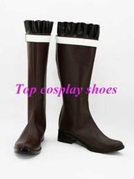 Wholesale Diabolik Lovers - Wholesale-Freeshipping Diabolik Lovers Yui Komori Brown Cosplay Boots shoes hand made Custom made for Halloween Christmas