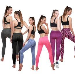 Wholesale Training Pants For Girls - 2017 new training compression pants girls print Leggings Women fitness yoga outdoor running casual joggers Pants Legging For Jegging