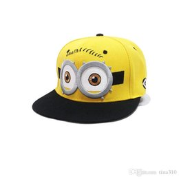 Wholesale Fall Baby - Wholesale- New fashion Parents and baby fashion autumn baseball hiphop cap cartoon small yellow hat lovely casual A0288