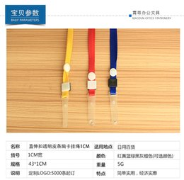 Wholesale Plastic Badges Straps - DHL&SF EXPRESS 100Pcs=1Set Candy Colors Neck Strap Lanyard With White Plastic Clip Multi Color Neck Strap Lanyard for For ID Badge