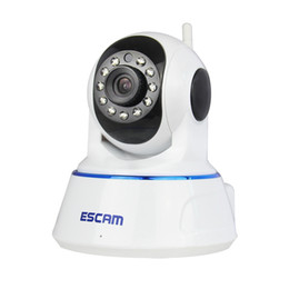 Wholesale Cctv Dome Ir - Escam QF002 HD 720P IP Camera Night Vision 3.6mm len H.264 1 4 CMOS P2P WIFI IR CCTV Mini Dome Camera