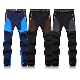 Wholesale Outdoor Pants Trekking - Outdoor Sport Hiking Pants Waterproof Winter Fleece Tech Softshell Ski Pants Men Trekking Trousers Camping Casual Windproof Sportwear