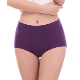 Wholesale Plus Size Women S Panties - Wholesale-High Waist Soft Modal Cotton Fiber Women Body Shaping Underwear Butt Panties Solid Sexy Seamless Brief Panties Plus Size L-3XL