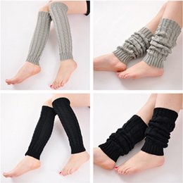 Wholesale Cuffs Red Sexy Wholesale - 2017 Fashion sexy Korea Leggings Socks Kneepad Women's Ladies' Warm Wool Knit Crochet Cuffs Winter Leg Warmer Boot Socks free shipping