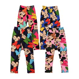 Wholesale Spring Leggings For Girl - autumn girls leggings minnie cotton pants for girls clothes 2017 fall fashion cartoon mouse kids trousers cute animal baby girl pants