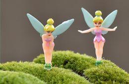Wholesale Wholesale Fairy Dust - FREE Cartoon Fairy Figurines Fairy Garden Miniatures Gnomes Pixie Dust Princess Miniature Fairy Figurine Mini Garden Resin Craft