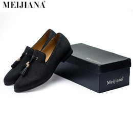 Wholesale Gold Metal Pointed Shoes - Handmade Metal fashion gold Tassel of Loafers Red Bottom Loafers Gentleman Luxury Fashion Stress Shoes Men Brand Men Shoes