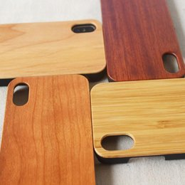 Wholesale Protection Maple - For iPhone X Bamboo Handmade Wood TPU Case Classic Solid Rose Maple Cherry Walnut Wooden Shockproof Protection Cover For iPhone 8 7 Plus 6S