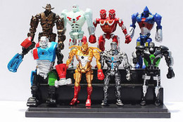 Wholesale Real Steel Atom Toy - Action Figures 2017 new 8pcs Movie Real Steel Zeus Atom Midas PVC Action Figures Toys Collection 13CM Christmas Gift for children
