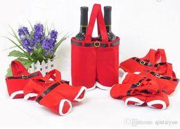 Bolsas de doces de calças de santa on-line-2015 New Hot Santa calças de estilo de natal doces saco de presente Xmas Bag presente de natal saco de embalagem de açúcar sacos de flanela Natal H438