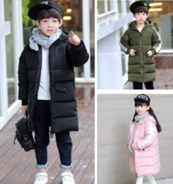 Wholesale Padded Coats For Boys - Fashioin Boys Girls children in cotton thick cotton padded jacket in the long winter cotton padded jacket for kids