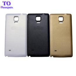Wholesale Oem Doors - OEM Battery Cover For Samsung Note 4 Note4 N910 N910F Back Battery Door Housing Rear Cover Case