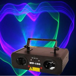 Wholesale Launch Usa - New Launched Sound Control Auto DMX512 Control Blue&Red Stage Laser Projector Professional Stage DJ Club Awesome Effects