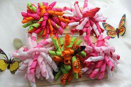 Wholesale Hair Curler Bow - Children's curlers 20 pcs bows flowers,corker hair barrettes korker ribbon hair clip hair accessories kids