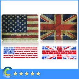 Wholesale Apple Keyboard Uk - US UK Flag Pattern Rubberized coating Case protective Cover with Matched Keyboard Shell for Apple Macbook Air 11'' 13'' Pro 15'' Retina 12''