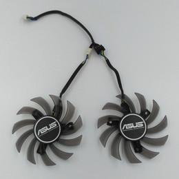 Asus ventiladores de resfriamento on-line-Original novo Firstdo Brushless FD7010H12S 12 V 0.35A VGA Cartão de Ventilador de Refrigeração para ASUS Sapphire 650TI GTX660 670 680 770 HD7870 Etc.