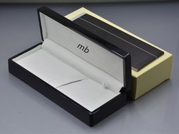 Wholesale Pens Paper - luxury AAA+ Marker pen Box with The papers Manual book , Pen box for m pen , wood box