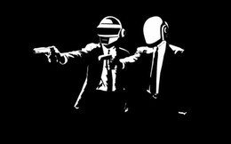 Wholesale Classical Music Free - Free Shipping Daft Punk DJ Music In Pulp Fiction Black Background Music High Quality Art Posters Print Photo paper 16 24 36 47 inches