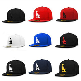 Wholesale Blue White Snapbacks - Brand new 6 panel snapbacks high quality la snapback hats women men hip hop baseball cap leisure ball caps dropshipping