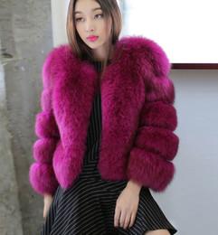 Wholesale New Fox Fur Collar - New Fashion Winter Haining Fur Imitation Fox Fur Loose Collar Short Fur Coat Plus Size Women Jacket M L XL