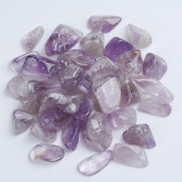 Wholesale Good Healing - FREE SHIPPING Wholesale 500g Tumbled stone 20-38mm Natural Amethyst Crystal Beads Healing reiki & good lucky energy stones with pouch