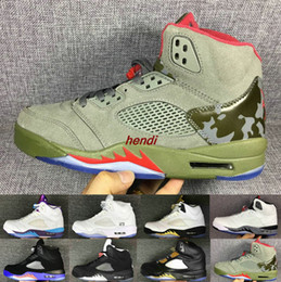 Wholesale Bulls Balls - 2018 Jumpman 5 V 23 jumpman cheap wholesale men s basketball shoes sneakers raging bull red blue wool suede basket ball sports shoes boots