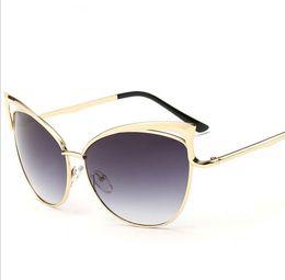 Wholesale Luxury Wholesale Sunglasses - Cat eye Sunglasses for Women Top Quality Aluminum Metal Frame Glasses Fashion Merry Luxury Brand Sun Glasses Cat eye Sunglasses