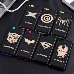 Wholesale Superman Hard Case - Captain America Spiderman Super hero Full Edge Protection Hard PC Phone Case For iphone 6 6s Plus 5s Superman Cover