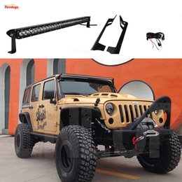 Wholesale Kit Harness - 52 Inch Single Row 250W Light Bar Kit + A Pillar Bracket + Wire Harness With Fuse And Switch For Wrangler 07-16