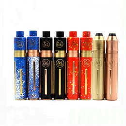 Wholesale mech mod vaporizer kit - 2016 Mech Mod Kits Vaporizer TVL Colt 45 Mod Kit with TVL Mechanical Mod TVL Atomizer 8 Colors fit 18650 battery Electronic Cigarette