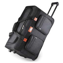 "Wholesale Extended Cases - Wholesale-26""32"" extended trip packing case Rollaway oxford wheel Rolling Waterproof trolley luggage bag travel bag,Checked hand"