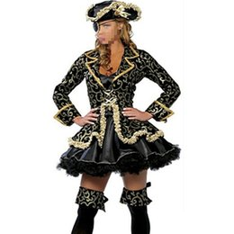 Wholesale Woman Adult Pirate Costume - Wholesale-Hot Fancy Sexy women cosplay Party costumes Deluxe Pirate Costume Adult cosplay halloween fantasias costumes instyles Dress