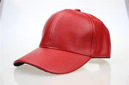 Wholesale Biker Balls - 2016 NEW Black PU Leather Baseball Cap Hip Hop Snapback Hat Biker Trucker Outdoor Sports For Men women wholesale