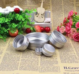 Wholesale containers for makeup - Aluminum Jar Lip Balm Pot Cosmetic Box Cream Emulsion Makeup Cream Container Empty Refillable for Cream Tins