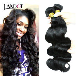 Wholesale Wavy Weave Wholesale - Brazilian Human Hair Weave Bundles Unprocessed Peruvian Malaysian Indian Cambodian Virgin Hair Body Wave Wavy 3 4Pc lot Mink Hair Extensions