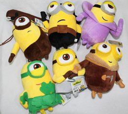 Wholesale Despicable Stuffed - 20CM Minons Plush Toys 6 Styles Despicable me 3 Minion Stuffed Brinquedos Cute Children Birthday Gift Kids Juguetes Dolls