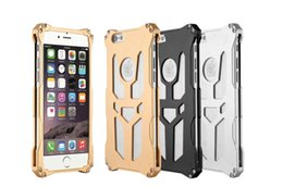 Wholesale Ironman Armor - Cell Phone Cases For iphone 6 6s 6 Plus Case Shockproof Metal Aluminum Thor Ironman Armor Design cell phone Bag Cover With Retail Box