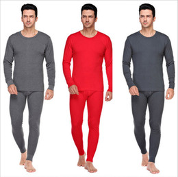 Wholesale Beautiful Underwear - Men thermal Underwear 2016 Autumn Winter Beautiful 7 Colors for Options 100% Cotton Comfortable to Wear High Quality Free Shipping