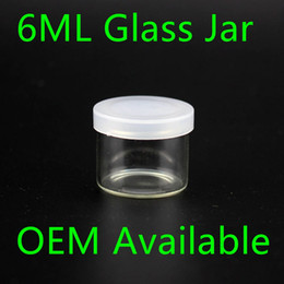 Wholesale Wholesale Food Bottles - Food Grade 6ml Non Stick Glass Concentrate Container Glass Bottle Wax Dab Jar Thick Oil Container VS 5ml Glass Jar