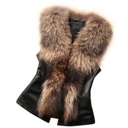 Wholesale Fur Vest Gilet - Faux Fur Parka Womens Faux Fur Vest Croped Jacket Sleeveless Winter Body Warm Coat Waistcoat Gilet Colete De Pele Falso #21