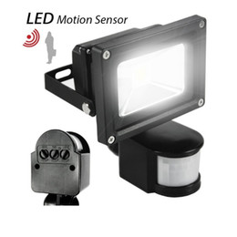 Wholesale Outdoor Infrared Motion - 10W 20W 30W 50W 100W PIR Infrared Motion Sensor led floodlight 110-265V waterproof IP65 parki led for Garden spotlight outdoor lights