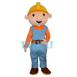 Wholesale Mascot Costume Bob - High Quality Bob The Builder Mascot Costume Character Costume Cartoon Costume Free Shipping