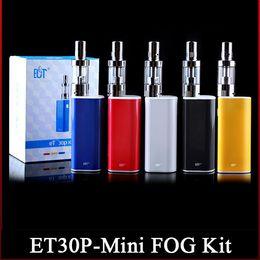 Wholesale Mini Electronic Cig - Original ECT box mod electronic cigarettes et30p 30W E cig 2.5 ml mini fog 0.3ohm airflow control vaporizer 2200mah et 30P