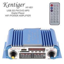 mini car amplifier usb Canada - HY601 2 Channels Hi-fi Mini Digital Motorcycle Auto Car Stereo Power Amplifier Sound Mode Audio Music Player Support USB FM SD CEC_818