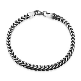 Wholesale Braclet Links - MontBlanc Braclet Fashion 316L Stainless Steel Bracelet Figaro Chain Vintage Jewelry for Cool Man Gift Wholesale
