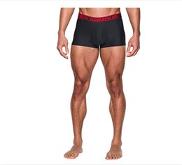 Wholesale Mens Solid Color Boxers - UA Mens Underwear Under Casual Armour Thin Underpants Solid Color Polyster Men's Breathable Underwears Boxers Plus Size