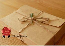 Wholesale 2016 новый милый старинные крафт бумаги конверт свадебный подарок конверты мм H0749