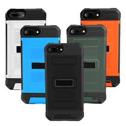 Wholesale Mobile Power Back - Hybrid Battery Case For 4.7 iPhone 6 6s 7 plus 3000mAh Mobile Charger Powerbank Case Back Cover Power Bank