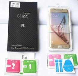 vetro ultra sottile Sconti .Ultra sottile 2.5D 0.2MM protezione dello schermo in vetro temperato Premium per Samsung Galaxy S7 Edge HD pellicola protettiva temperata con pacchetto di vendita al dettaglio